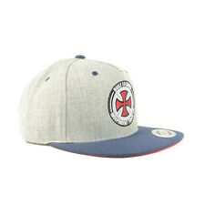 Independent Men's BTG Cross Flatpeak Snapback Cap - AW15: Heather Grey