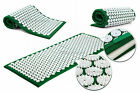 Akupressurmatte 120x50x2,5 cm Massage Iplikator Akupunktur Yoga Nagelmatte grün