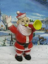 Vintage Hard Plastic Santa with Horn Candy Container ( 1334)
