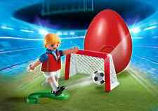 PLAYMOBIL #4947 SOCCER PLAYER WITH GOAL EASTER EGG SET BRAND NEW