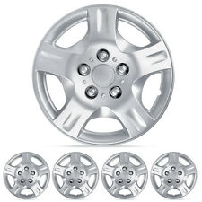 4 Piece Set 15 Inch Hubcap Silver Skin OEM Steel Wheel Replacement