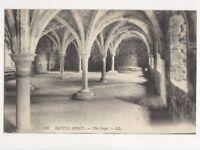 Battle Abbey The Crypt Vintage LL Postcard 668a
