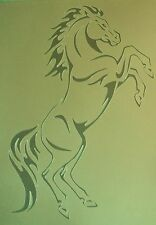 H2 NOW A3 Airbrushing Stencil HORSE REARING Template Textile Paint Craft