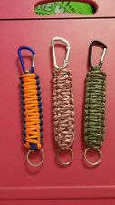 Double Cobra Paracord Caribiner Keychain **YOUR CHOICE OF COLORS**