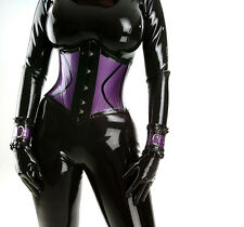 latex underbust  waspie corset steel boned rubber gummi made to measure