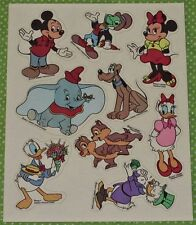 HALLMARK VINTAGE DISNEY MICKEY MOUSE & FRIENDS~DONALD DUCK~DUMBO~PLUTO STICKERS