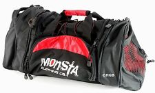 MONSTA Clothing Pro Sport Large Embroidered Gym Duffle Bag Wet Dry Storage
