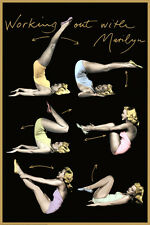 WORKING OUT WITH MARILYN MONROE Retro 1950s Fitness Health POSTER