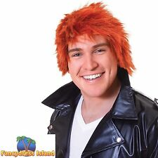 1980's SPIKEY GINGER CHINSEL WIG One Size Mens Fancy Dress Costume
