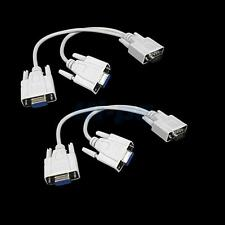 Lot2 VGA SVGA 1 Male to 2 Female Monitor Video Y Splitter Cables for PC/Computer
