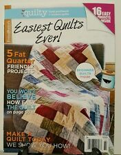 Quilty Easiest Quilts Ever 5 Fat Quarter Projects Spring 2016 FREE SHIPPING JB