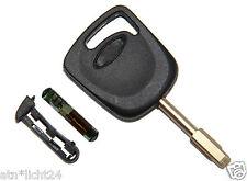 Schlüssel Rohling für Ford + 4D60 Wegfahrsperre Chip Transponder Not KEY