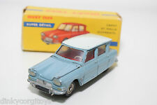 DINKY TOYS 557 CITROEN AMI 6 BLUE EXCELLENT BOXED