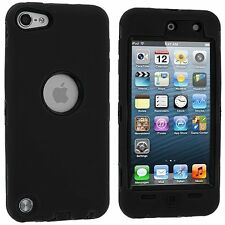 iPod Touch 5 5th Generation Rugged Hybrid Defender Hard Case W/ Screen - Black