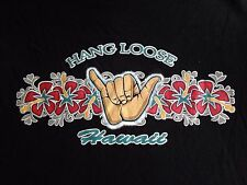 VINTAGE HANG LOOSE HAWAII BLACK T SHIRT SMALL