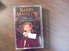 "NEW SEALED ""Barry Manilow"" Live On Broadway   Cassette tape         (G)"