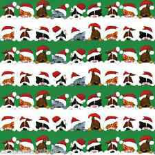 CASPARI 2 / 8 ft Rolls Peek A Boo Cats & Dogs Christmas Gift Wrap Wrapping Paper