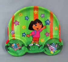 Dora the Explorer Rainbow Plastic Sectioned Plate Dish Boots Stars Stripes