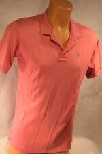 Ralph Lauren Pink POLO SHIRT Mens XL Cotton Fitted MADE IN USA