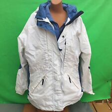 COLUMBIA women's fashion 3in1 white long sleeve hoodie warm coat jacket size--L