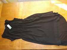 New Ex-M&S Ladies Black Drop Hem Dress Size 12 Petite (£39.50)