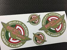 4 Adesivi Stickers DUCATI RACING TALDEA Meccanica Vintage