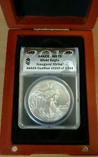 2012 ANACS MS 70 Silver Eagle Inaugural Strike Coin