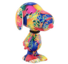 New DEPARTMENT DEPT 56 Dog Figurine PEANUTS SNOOPY Statue PARTY ANIMAL Rainbow