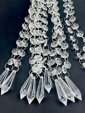 "20PCS 20"" Acrylic Crystal Garland Chandelier Hanging Bead Chains Wedding Decor"