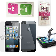 Real Front And Back Tempered Glass Film Screen Protector Guard For iphone 5 5s