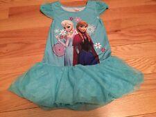 Frozen Anna&Elsa Sleepwear Night Gown Costume Authentic Disney Store Dress 4 New