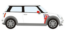 BMW Mini A Panel Union Jack Decal Kit Mini Cooper Racing Vinyl Graphics NEW