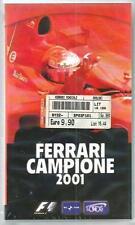 Ferrari Campione 2001 - videocassetta VHS ancora incelofanata, perfetta