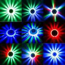LED RGB Lamp Effect Auto Sunflower Rotating Party Stage Club Disco Light 2016
