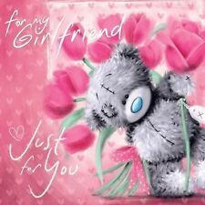 ME TO YOU FOR MY GIRLFRIEND JUST FOR YOU BIRTHDAY CARD TATTY TEDDY BEAR NEW GIFT