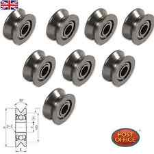 8pcs VGroved Wire Guide Pulley Wheels Roller 4mm Carbon Steel Ball Bearing 624VV