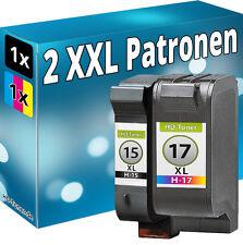 SET TINTE PATRONEN für HP 15+17 für DeskJet 825c 840c 845c C6625AE+C6615DE