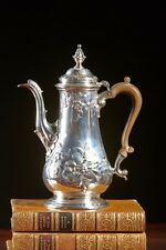 A Fine and Rare English George II Rococo Sterling Silver Coffee Pot, circa 1751