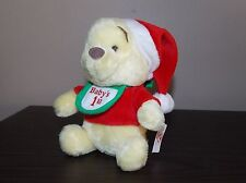 "Disney Winnie the Pooh Plush Baby's 1st Christmas 6"" Stocking Stuffer WUC"