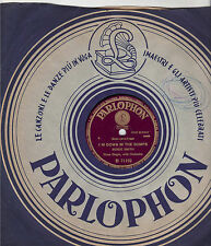 """BESSIE SMITH : I'M DOWN IN THE DUMPS / DO YOUR DUTY - 78 RPM """"PARLOPHON"""" ITA"""