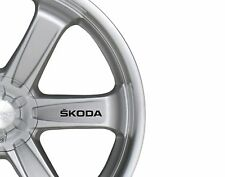 6x Car Alloy Wheel Sticker fits Skoda Octavia Fabia Bodywear Decal Adhesive PT87