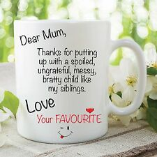 Funny Novelty Mug Adult Humour Mum Mother's Day Joke Ceramic Cup Gift WSDMUG67