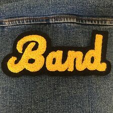 Chenille Patch Band Varsity Music Gold Black Vintage Letterman Sew On Embroid Sm