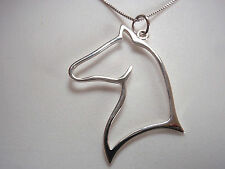 Horse's Head 925 Sterling Silver Pendant Corona Sun Jewelry stables horse