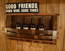 Barn wood - Wine Stave Rustic wine rack - Tin backing