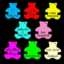 100 Personalised Printed Retail Business Display Teddy Bear Price Tags Labels