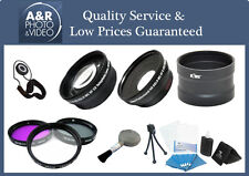 PRO 2X Telephoto 0.45X Wide angle Lens For FujiFilm Fuji X70 Camera + Filter Kit