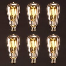 Antique LED Bulb, Oak Leaf 4w ST64 Vintage Edison Dimmable Light Bulb LED Soft 6