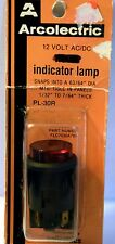 "Arcolectric PL-30R 12V  INDICATOR LAMP; 63/64"" DIA, 1/32-7/64"" THICK RED"