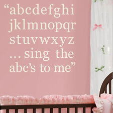 A B C SONG wall stickers 87 ivory white alphabet letters decals nursery decor